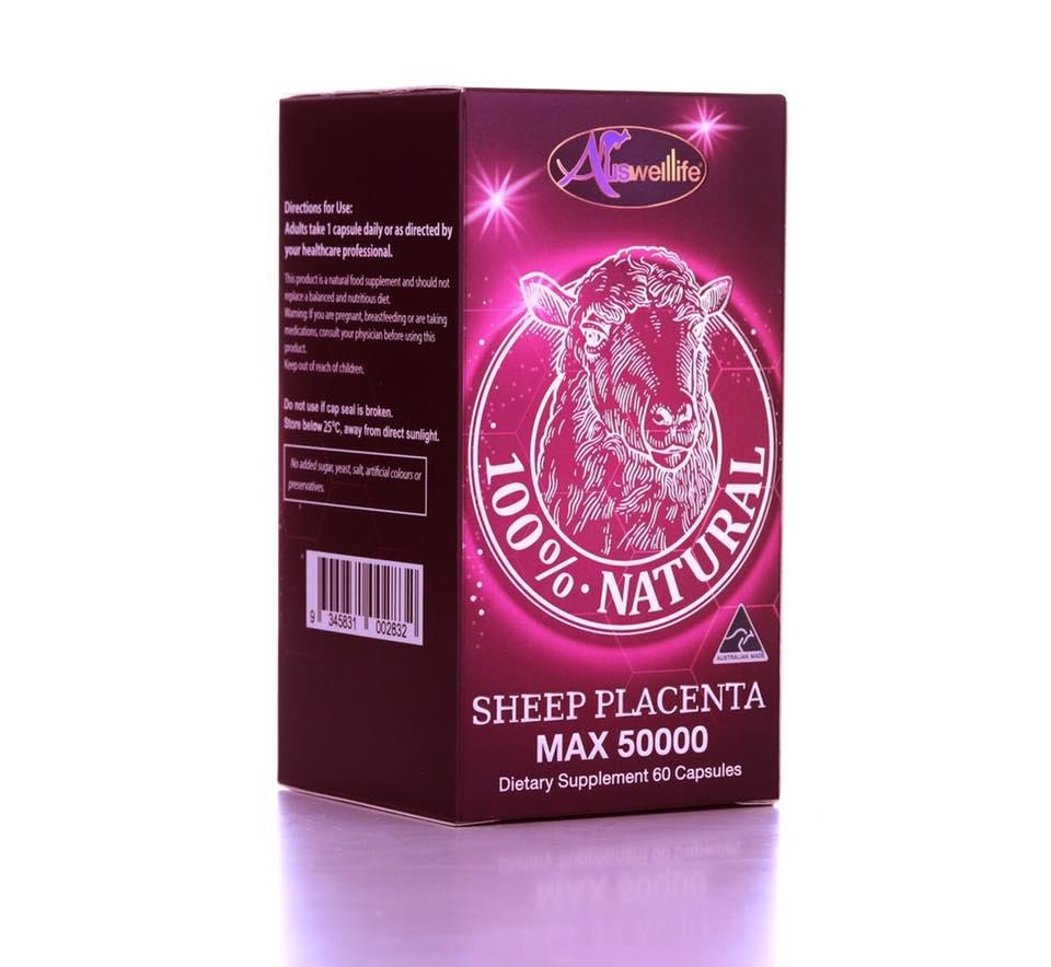 ขายAuswelllife Sheep Placenta MAX 50000mg รกแกะ ออสเวลล์ไลฟ์