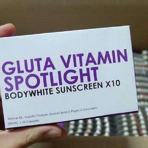 GLUTA VITAMIN SPOTLIGHT BODYWHIT SUNSCREEN X10 ( ห้ามรับประทาน)