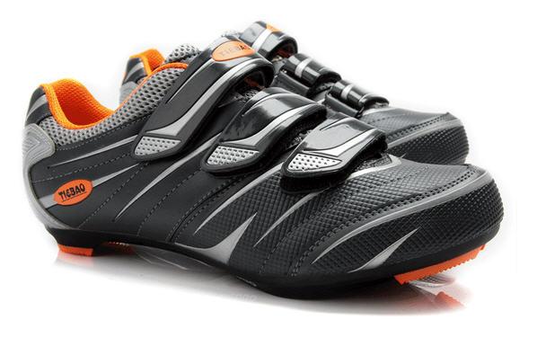 รองเท้าปั่นจักรยานเสือหมอบ TIEBAO สีดำส้ม : TB36-B816A_2407