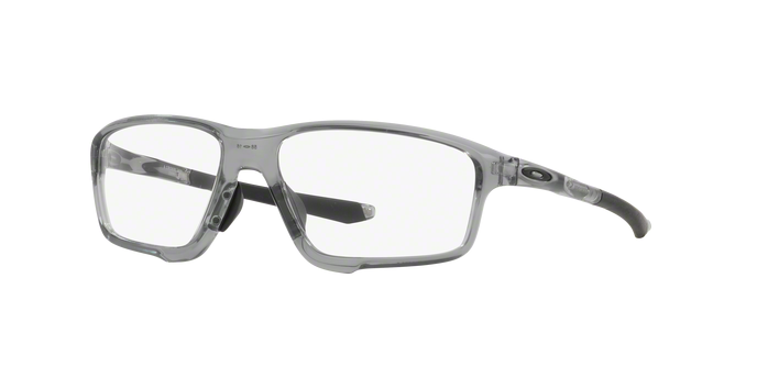 Oakley OX8080-04 CROSSLINK ZERO POLISHED GREY SHADOW Clear