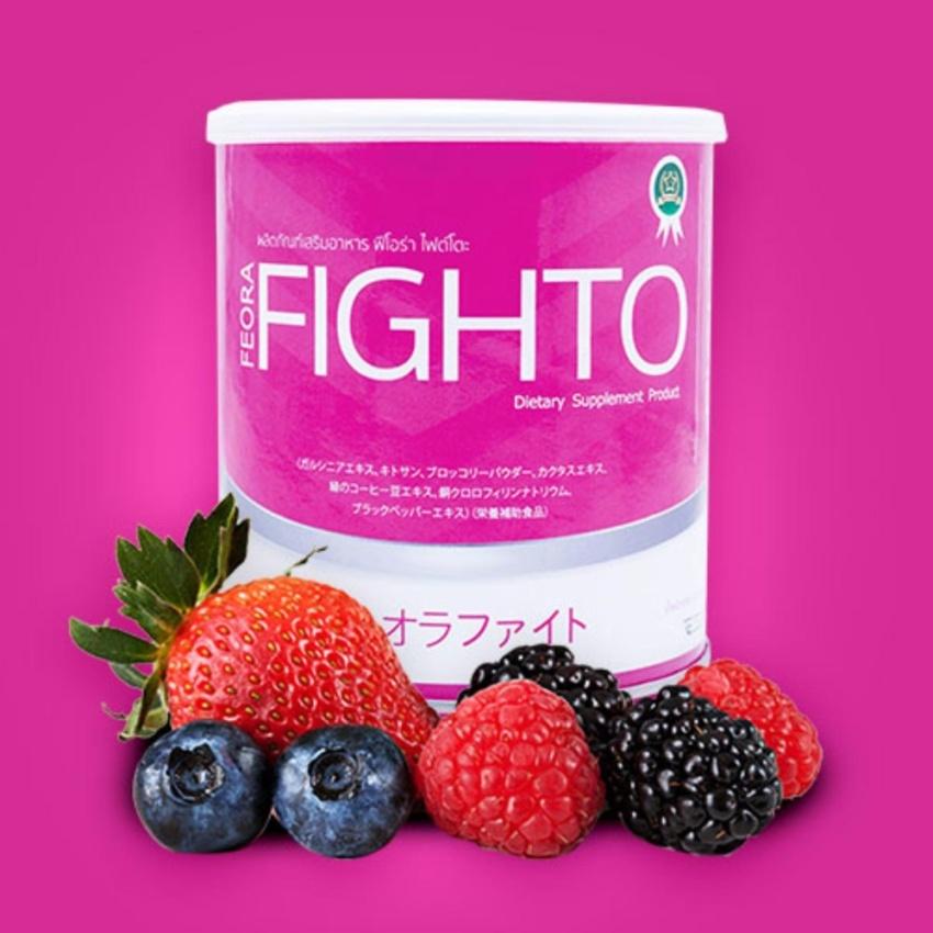 ฟีโอร่า ไฟต์โต๊ะ ดีท็อก FEORA FIGHTO (สีชมพู)