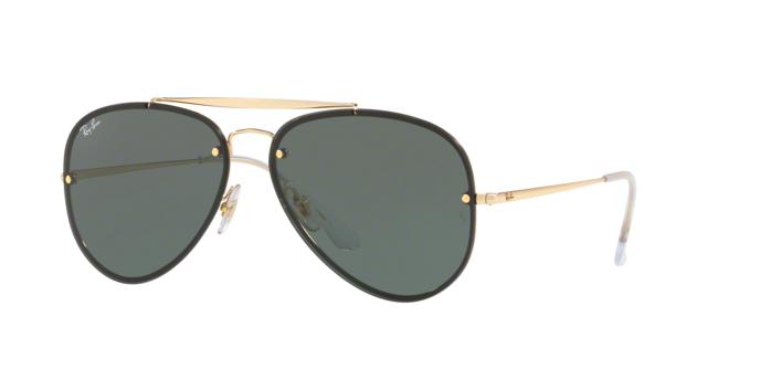 Ray Ban Aviator RB3584N 905071 GOLD Dark Green