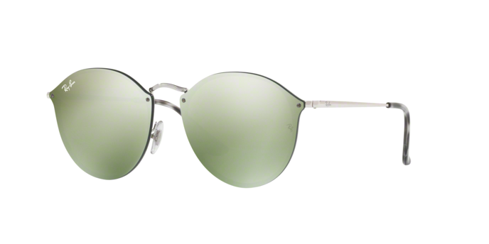 Ray Ban RB3574N 003/30 SILVER Dark Green Mirror Silver