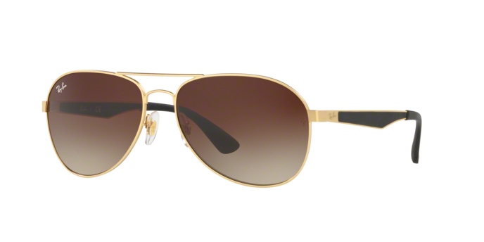 Ray Ban RB3549 112/13 Matte Gold Brown Gradient