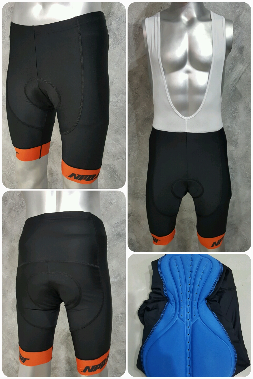 กางเกงปั่นจักรยานขาสั้น NPDSPORT Anti-Slip (ปลายขา Laser Cutting) ปลายขาสีส้ม: PS17014