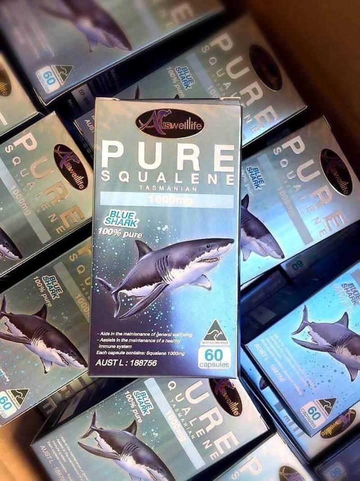 Auswelllife Pure Squalene Tasmanian 1000mg น้ำมันตับปลาฉลาม