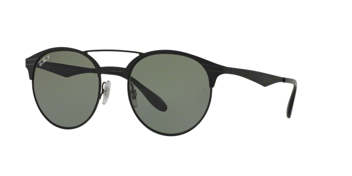 Ray Ban RB3545 186/9A SHINY BLACK/TOP MATTE BLACK Polar Green
