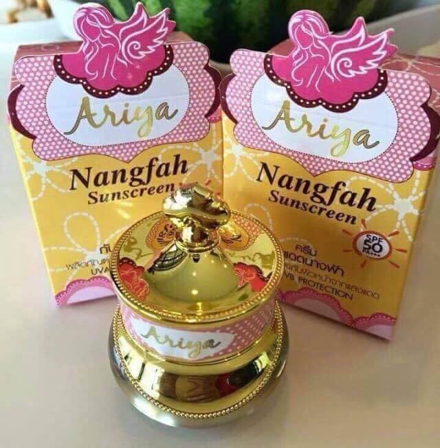 Nangfah Sunscreen SPF 50 PA+++ By Ariya ครีมกันแดดนางฟ้า