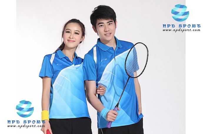 ชุดแบดมินตัน เสื้อแบดมินตัน LI-NING สีฟ้า : 407