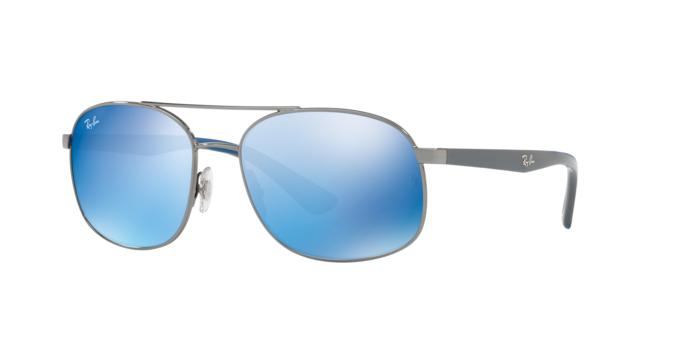 Ray Ban RB3593 004/55 GUNMETAL Blue Mirror Blue