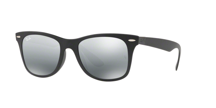 Ray-Ban RB4195F 601S88 LITEFORCE MATTE BLACK Grey Mirror Silver Gradient