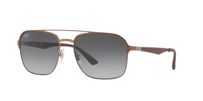 Ray Ban RB3570 121/11 BROWN Light Grey Gradient Dark Grey
