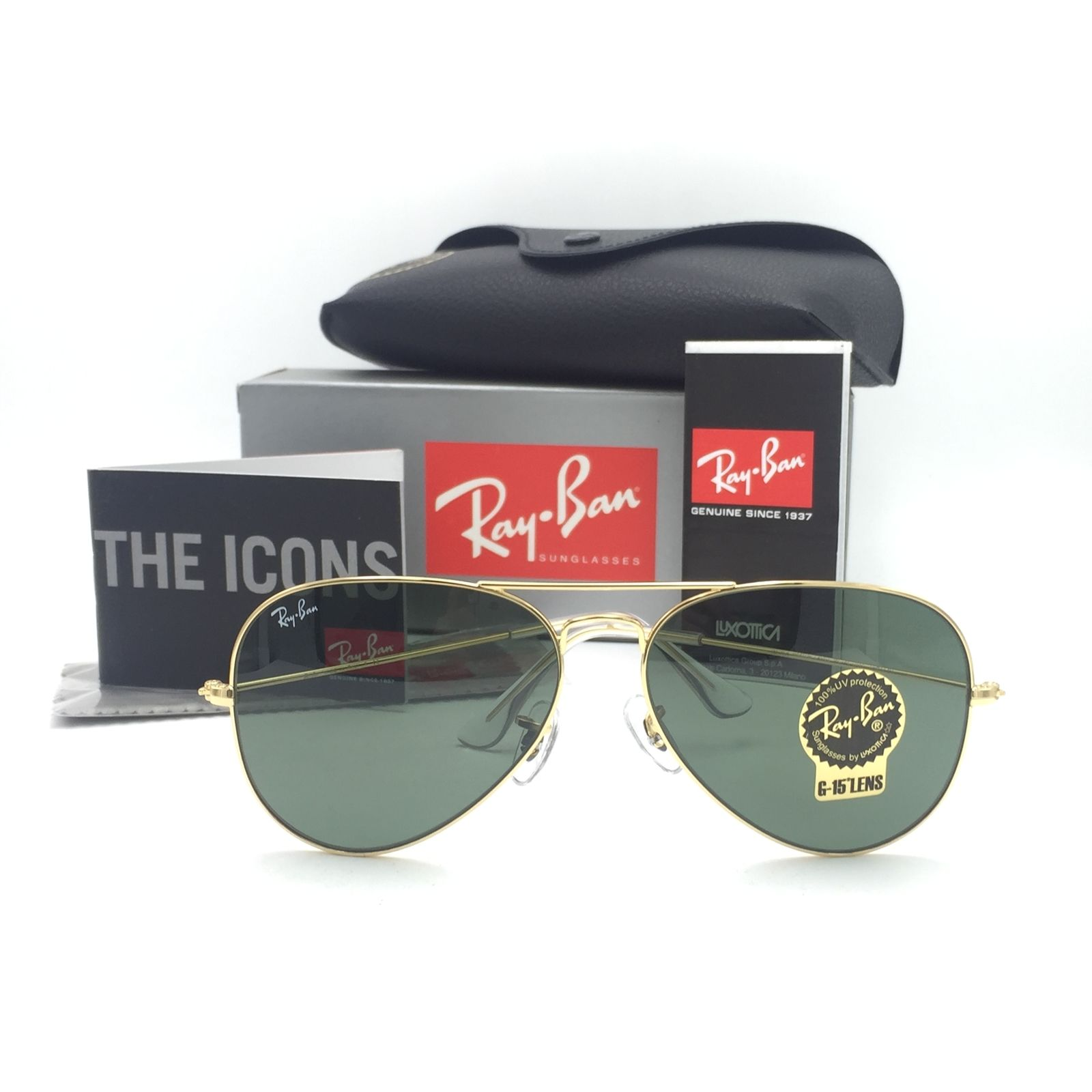 Ray Ban RB3025 L0205 Aviator Gold Frame 58mm