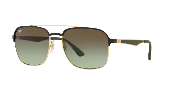 Ray Ban RB3570 9110E8 Green Gradient Brown