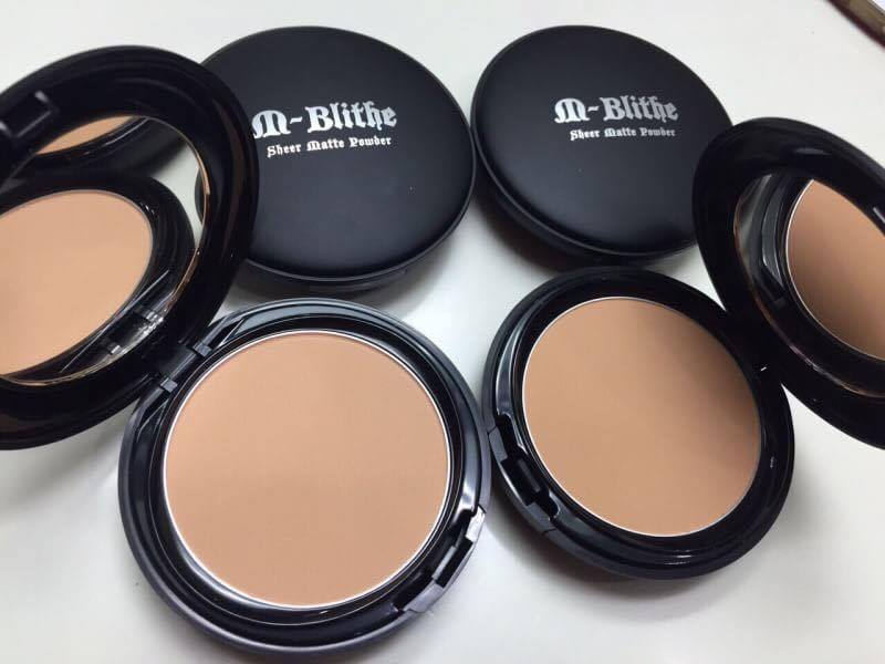 M-Blithe Sheer matte powder แป้งเอ็มบาย