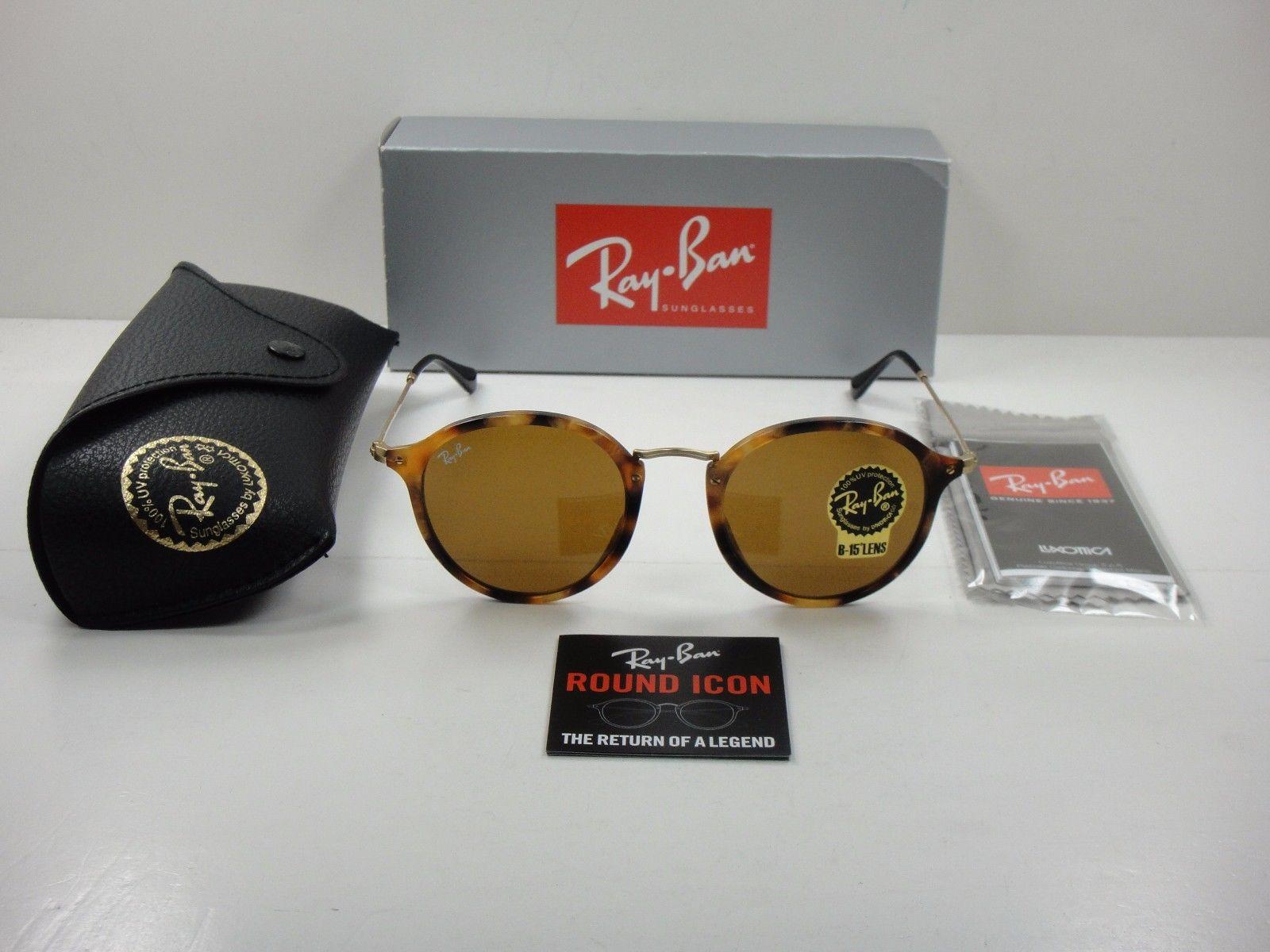 Ray Ban RB2447 1160 49mm B-15 TORTOISE & GOLD/BROWN