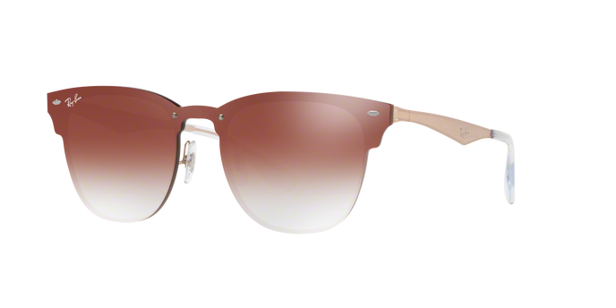 Ray-Ban RB3576N 9039V0 BRUSHED COPPER Clear Gradient Red Mirror Red