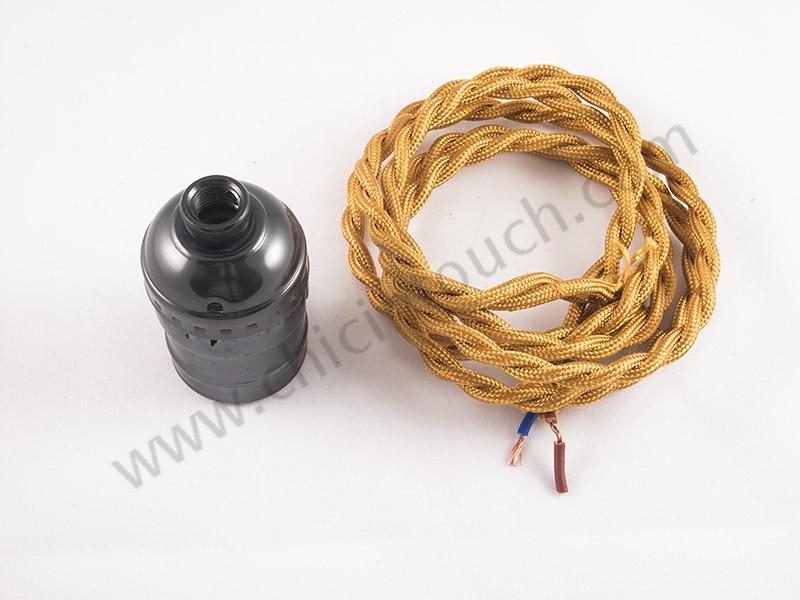 อุปกรณ์การDIY ชุดหลอดไฟเอดิสัน ด้วยขั้วหลอดไฟวินเทจ กับสายไฟวินเทจแบบง่าย