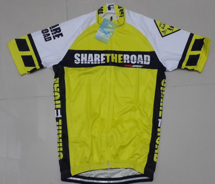 เสื้อปั่นจักรยานแขนสั้น SHARE THE ROAD : NPD0101