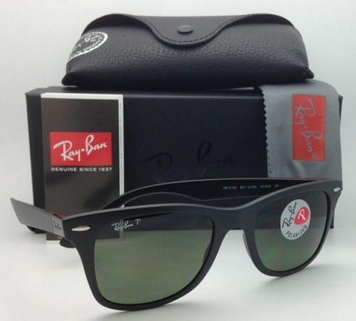 Ray Ban WAYFARER LITEFORCE RB4195F 601S/9A Polarized 52MM