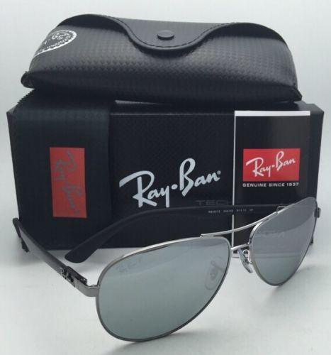 RAY BAN RB8313 004/K6 Gunmetal / Silver Mirror polarized