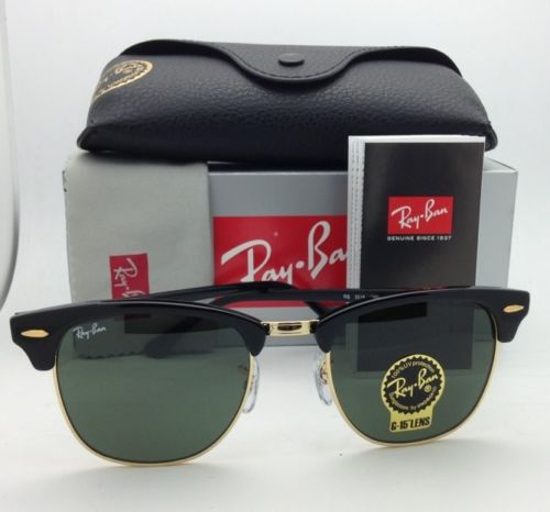 Ray-Ban RB3016 W0365 Clubmaster Black/Gold