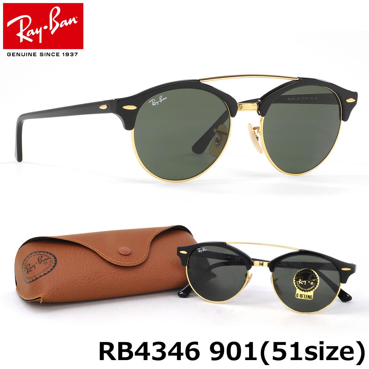 Ray Ban RB4346 901 CLUBROUND Double bridge