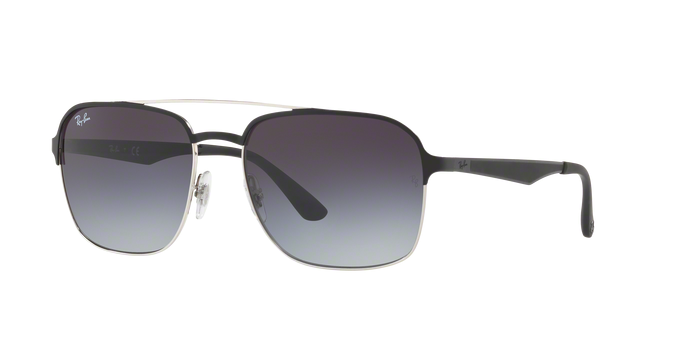 Ray Ban RB3570 90048G SILVER TOP BLACK Gradient Grey