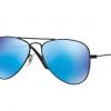 Ray Ban RJ9506S 201/55 MATTE BLACK Blue Mirror