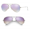 Ray Ban RB3025 019/7X Aviator Silver/Lilac Gradient Flash