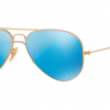 RayBan RB3025 112/4L Matte Gold Blue mirror polarized