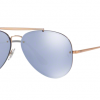 Ray Ban Aviator RB3584N 90531U COPPER Dark Violet Mirror Silver