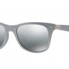 Ray-Ban RB4195F 601788 LITEFORCE SILVER Grey Silver Mirror Gradient
