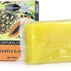 น้องนะคะ ฟรุ๊ตตี้ บิวตี้ Natural Soap Pineapple & Papaya 100g. สบู่ขั้นเทพ