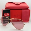 Ray Ban Aviator RB3025 001/4B Pink Lens Gold Frame 58mm
