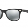 Ray-Ban RB4195F 601S88 MATTE BLACK Grey Mirror Silver Gradient