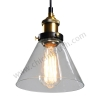โคมไฟห้อยเพดานLoft Style รุ่น Cone Glass (C22) (แก้วใส)