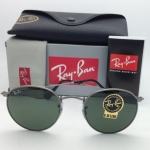 Ray-Ban RB3447 029 Round metal Gunmetal frame G-15 lenses