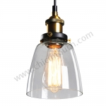 โคมไฟห้อยเพดานLoft Style รุ่น Jar Glass (C23) (แก้วใส)