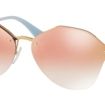 แว่นกันแดด PRADA PR64TS 7OEAD2 Antique Gold Pink Gradient Mirror