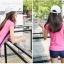 ชุดว่ายน้ำขาสั้น แขนสั้น สีชมพู thumbnail 6