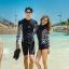 ชุดว่ายน้ำ ขาสั้น เสื้อแขนยาวซิปหน้า (เฉพาะผู้หญิง) thumbnail 5