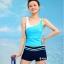 ชุดว่ายน้ำ แบบสปอร์ต กางเกงขาสั้น เสื้อกล้าม สีฟ้า Big Size thumbnail 1