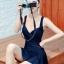 ชุดว่ายน้ำวันพีช เอวซีทรู โชว์หลัง - สีกรมท่า Big Size thumbnail 3