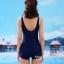 ชุดว่ายน้ำวันพีช แบบสปอร์ต ขาสั้น สีดำแถบขาว thumbnail 4