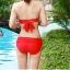 ชุดว่ายน้ำ บิกินี่ ทูพีช บราผูก Pink thumbnail 4