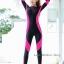ชุดดำน้ำ เวทสูท ซิปหน้า สีชมพู-ดำ thumbnail 1