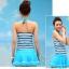 ชุดว่ายน้ำ ทูพีช แบบกระโปรง สีฟ้า thumbnail 4
