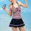 ชุดว่ายน้ำ ทูพีช แบบกระโปรง สีกรมท่า thumbnail 1