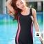 ชุดว่ายน้ำวันพีช แบบสปอร์ต ขาสั้น แถบสีชมพูลายจุด thumbnail 1